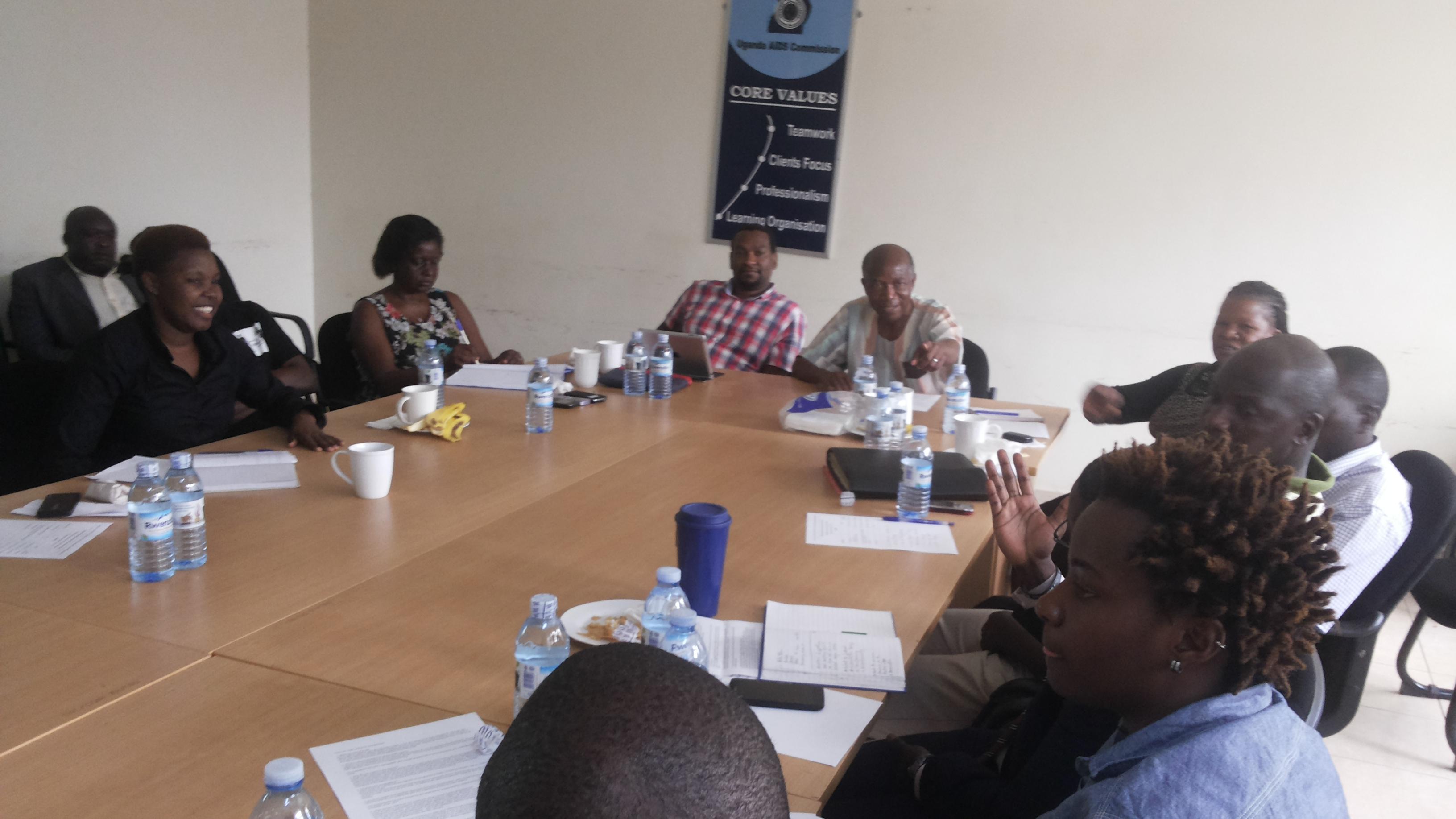 Uganda Country Coordinating Mechanism Uganda meeting, January 2014.