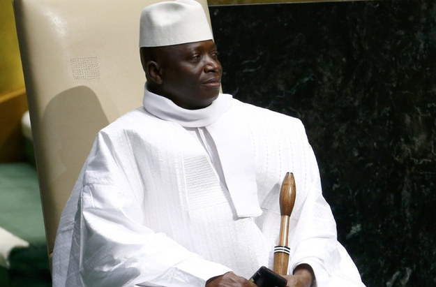 Gambian President Yahya Jammeh at U.N. headquarters in New York in 2014 (Photo courtesy of amazonaws.com)
