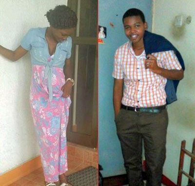 The newspaper Uwazi published these photos of Lucy Fred (left) and Maua Sadick.