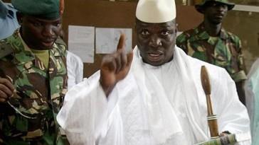Gambian President Yahya Jammeh (Photo courtesy of AFP and Senenews.com)