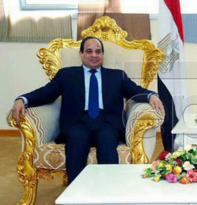 Game of thrones: Sisi at his most Napoleonic. (Photo courtesy of Scott Long)