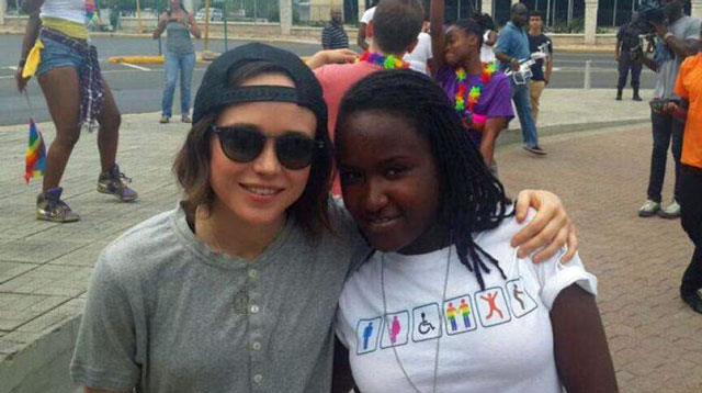 Actress Ellen Page at PRiDEJA 2015. (Photo courtesy of Loop Jamaica)