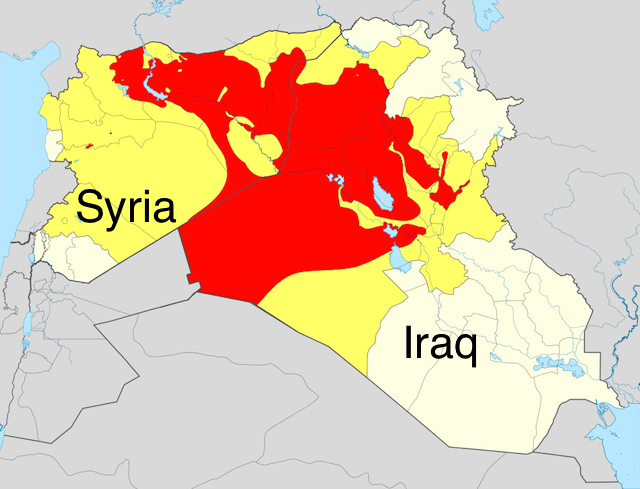 2014 map of ISIS-controlled territories. (Map courtesy of Wikimedia)