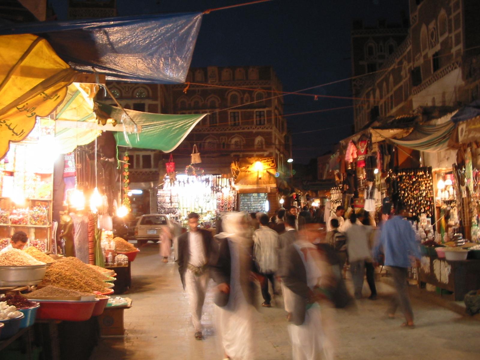 Market in Sana'a, Yemen's capital city. (Photo courtesy of YXO / flickr via The Tower)