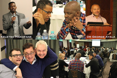 Scenes from this month's HIV meeting in South Africa. (Photo collage courtesy of MSMGF blog)