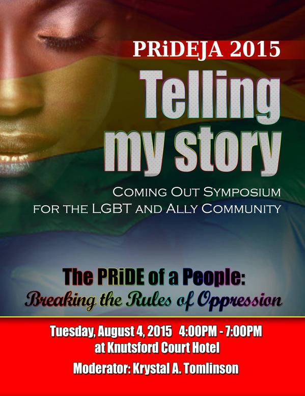 Promo for symposium about coming out in Jamaica, which is part of PRiDEJA 2015.