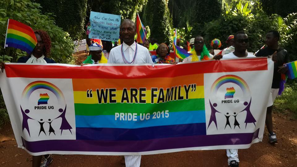 """""""We Are Family"""" was the theme of Uganda Pride 2015. (Photo courtesy of Facebook)"""