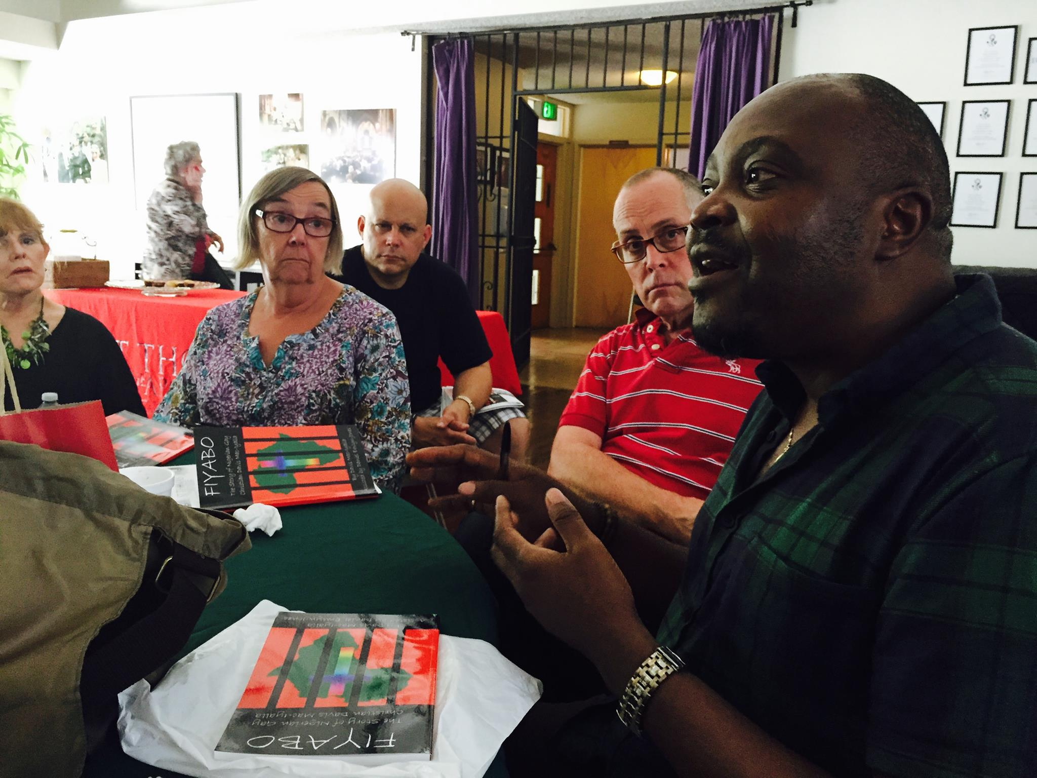 Anglo-Nigeria LGBTI activist Davis Mac-Iyalla discussed the harsh conditions in Nigeria and his work in West Africa in general during a visit on Aug. 30 to St. Thomas the Apostle Episcopal Church in West Hollywood, California. (Colin Stewart photo)