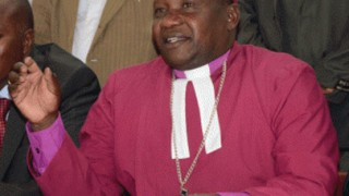 Bishop Joseph Kagunda of the Anglican Church of Kenya announces on Sept. 11, 2015, the suspension of five priests accused of homosexual activity. (Photo courtesy of Nairobi News)