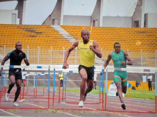 Thierry Essamba, Cameroon's record holder in the 110-meter hurdles. (Photo courtesy of Thierry Essamba)