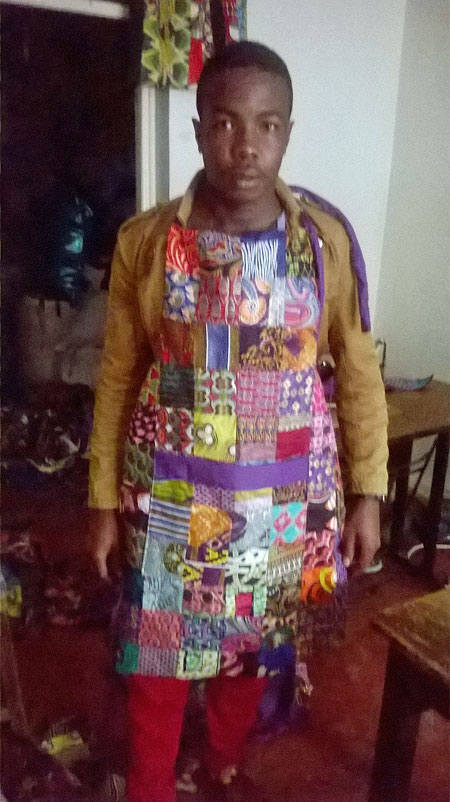 Apron designed and crafted by His Grace Fashion and Design
