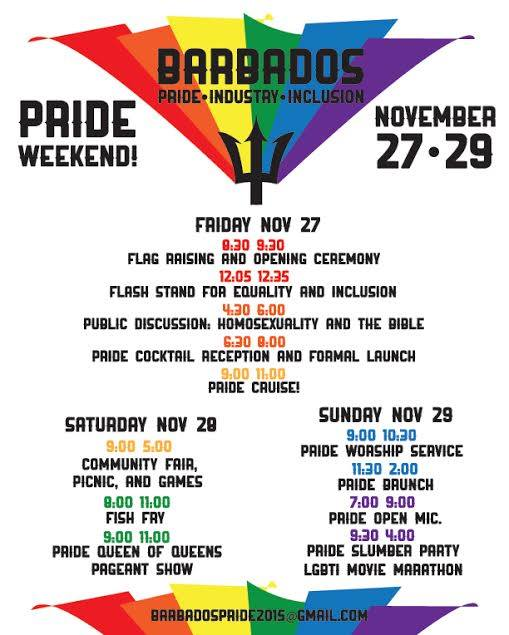 Barbados Pride flyer