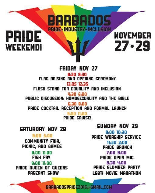 Barbados Pride flyer