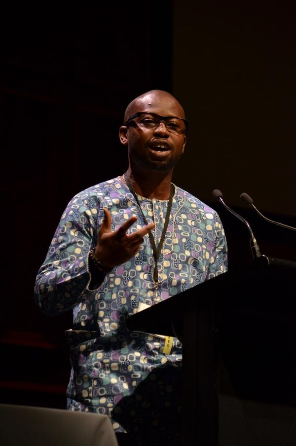 Kene Esom, executive director of African Men for Sexual Health and Rights, or AMSHeR. (Photo courtesy of Twitter)