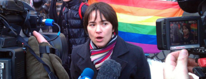 Olena Shevchecko, chair of the LGBTI advocacy organization Insight