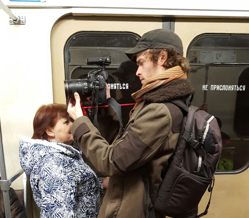 A Coda Story videographer works on a mini documentary that will be part of Coda's coverage of #LGBTCrisis in the former Soviet Union. It will feature trans people living and transitioning in midst of the region's growing anti- gay propaganda. Click the image for a link to Coda's crowdfunding campaign. (Photo courtesy of Coda Story)
