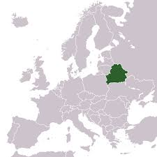 Location of Belarus in Europe (Map courtesy of MapsOf.net)