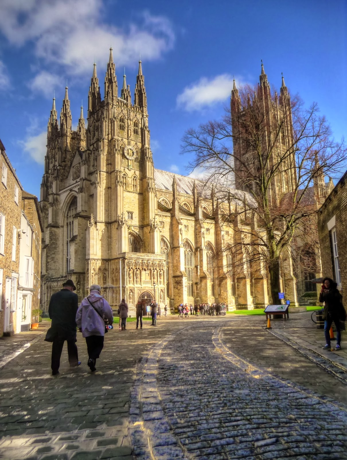 Canterbury Cathedral, seat of the Archbishop of Canterbury, the spiritual leader of the Anglican Communion.