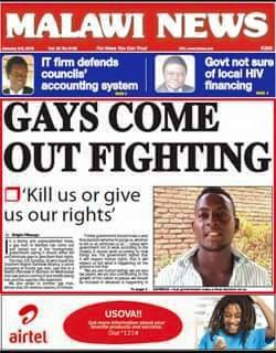 Cover of the Malawi News on Jan. 2, 2016.