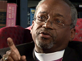 "Presiding Bishop Michael Curry: Anglican Primates' decision with cause ""pain on top of pain."" (Photo courtesy of the Diocese of Western Massachusetts)"