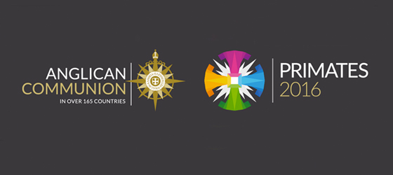 Logos of the Anglican Communion and the Primates 2016 meeting. (Graphic courtesy of Episcopal Cafe)