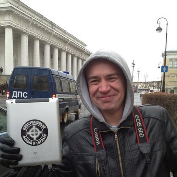 """Timur Bulatov, self-described """"homophobic wolf."""" (Photo courtesy of Vocativ.com)"""