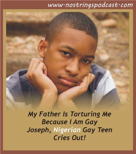 Online graphic for Nigerian gay teen's podcast. (Click the image to listen to the podcast.)