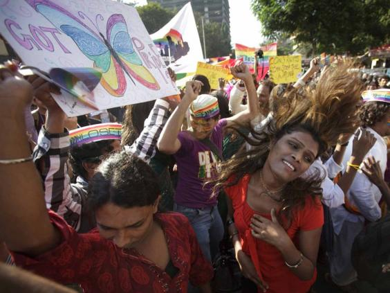 Gay pride parade in Mumbai -- an annual event. (Photo courtesy of The Independent)