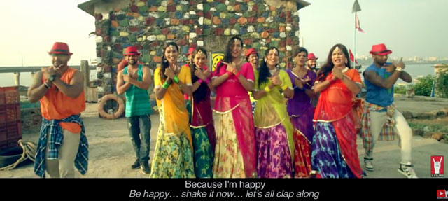 """Scene from """"Hum Hain Happy"""" video. (Click the image to watch it.)"""