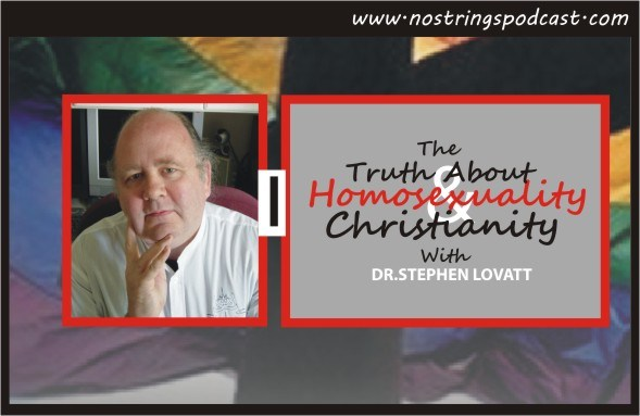 """Click the image to listen to the No Strings podcast """"The Truth About Homosexuality and Christianity."""""""