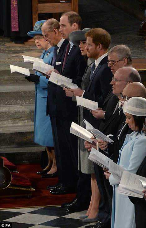 The British royal family celebrates Commonwealth Day at Westminster Abbey on March 14, 2016. (Photo courtesy of the Daily Mail.)