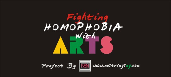 "Logo for the NoStringsNG project ""Fighting Homophobia With Arts"""