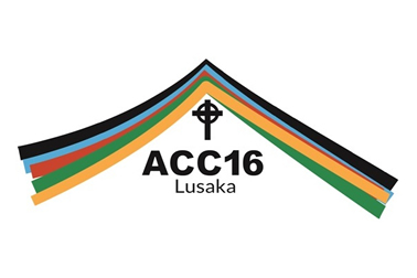 Logo of the Anglican Consultative Council meeting in Lusaka, Zambia. The design of the logo is mirrors the shape of the roof of Lusaka Cathedral. A cathedral built on the top of a hill whose roof can be seen from around the city of Lusaka. The colours used in the image are all the colours in the flags of Botswana, Malawi, Zimbabwe and Zambia - the countries of the dioceses that make up the Province of Central Africa who invited the ACC to Lusaka.