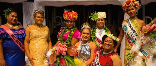 Contestants in last month's Mizz Jewel contest. (Photo courtesy of GayNZ.com)