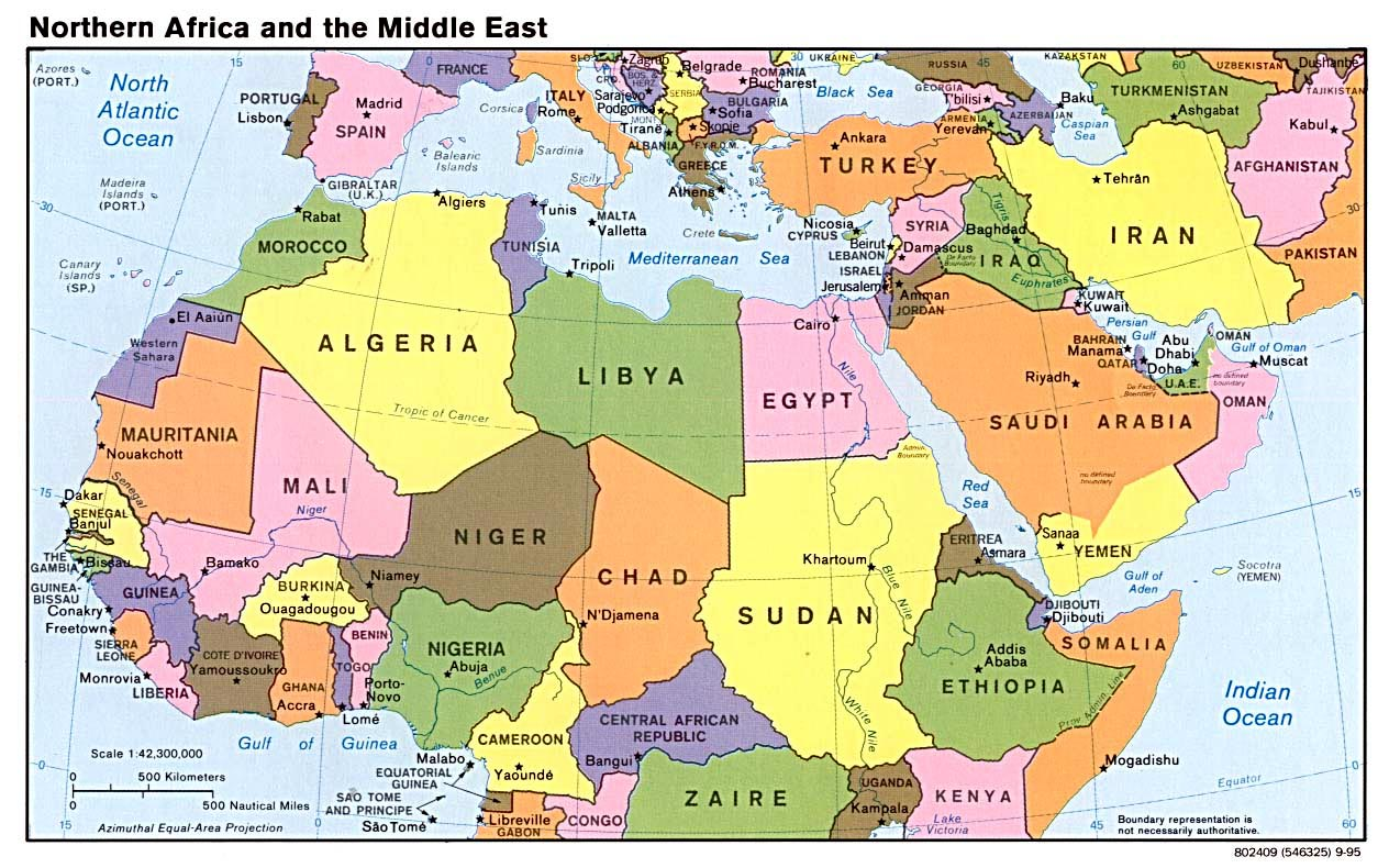 Northern Africa and the Middle East (Map courtesy of LaHistoriaConMapas.com)