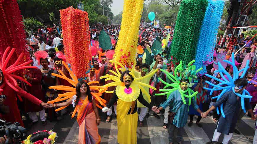 Dhaka's Rainbow Rally in 2015. (Photo courtesy of the Dhaka Tribune.)