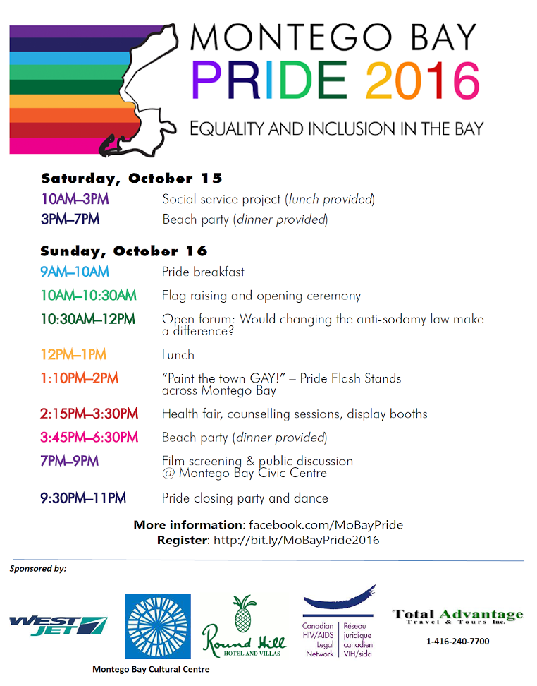 Events planned for Montego Bay Pride 2016