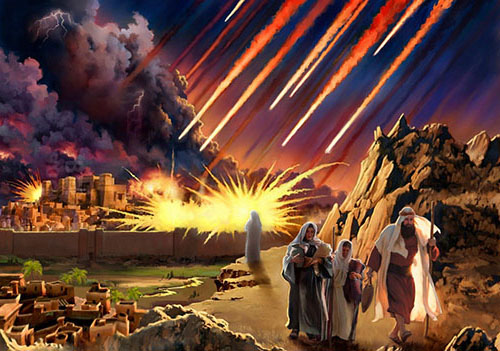 """Fundamentalists revel in the imagery of destruction in the Sodom and Gomorrah story, seeing it as a forecast of what's ahead for sinful nations. This image from the blog America's Last Days comes from the blog post """"America is now Sodom and Gomorrah and will be destroyed by fire."""""""