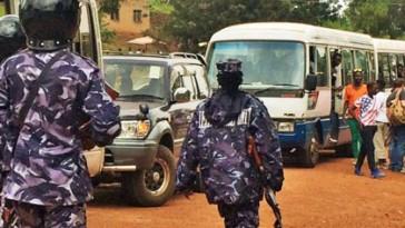 Police block Uganda's fifth annual Pride Parade. (Photo courtesy of Facebook)