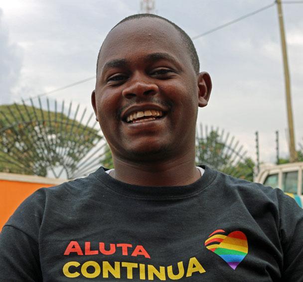 Brian Byamukama (Barigye Ambrose photo courtesy of Kuchu Times)