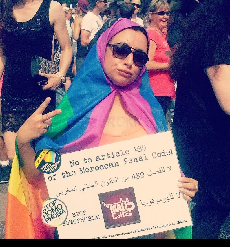 Protest against Morocco's anti-LGBT law. (Undated photo courtesy of Altermondes)
