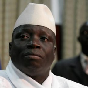 Yahya Jammeh, defeated Gambian leader. (Photo courtesy of iTele)