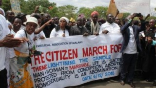 Malawi protest march on Dec. 6, 2016 (Photo courtesy of the ECM)