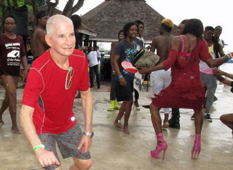 Andrew Beckerman and other dancers at Montego Bay Pride 2016. (Photo courtesy of Maurice Tomlinson)