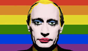 Russian President Vladimir Putin as a gay clown.