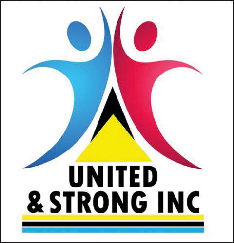 Logo of United and Strong of St. Lucia