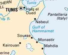 The city of Sfax is located in the middle of Tunisia's east coast.