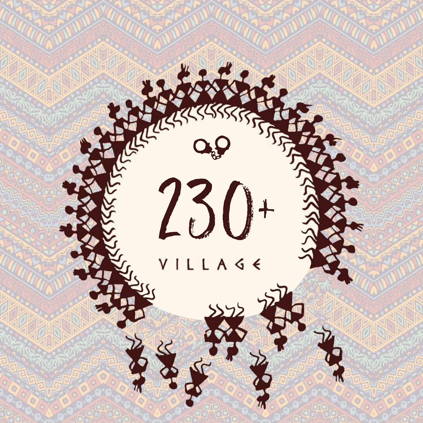 Logo of 1821 Village as modified by LGBQI activists.
