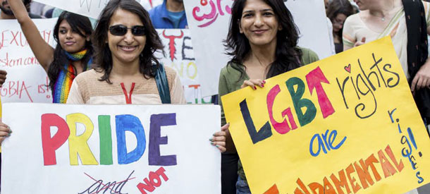 Protest against India's anti-gay Section 377. (Photo courtesy of The Quint)