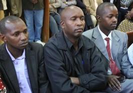 The Rev. James Maina Maigua, Archdeacon John Njogu Gachau, and the Rev. Paul Mwangi Warui at Nyeri Law Courts in Kenya (Faith Nyamai photo courtesy of The Nation)